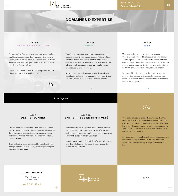 Cabinet Mounier - Direction artistique & UX