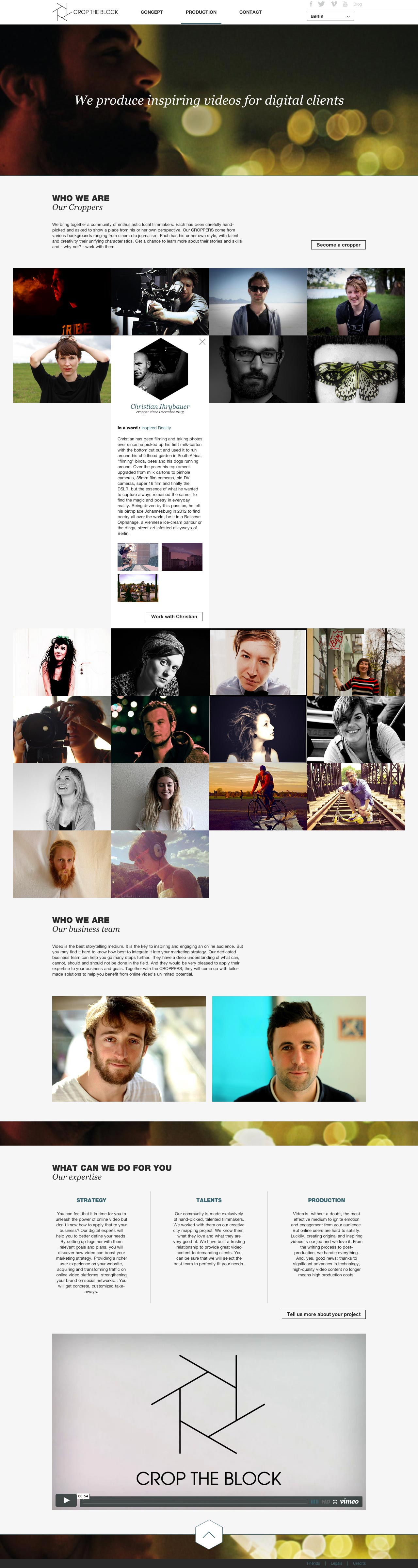 Crop the Block - Direction artistique web & UX
