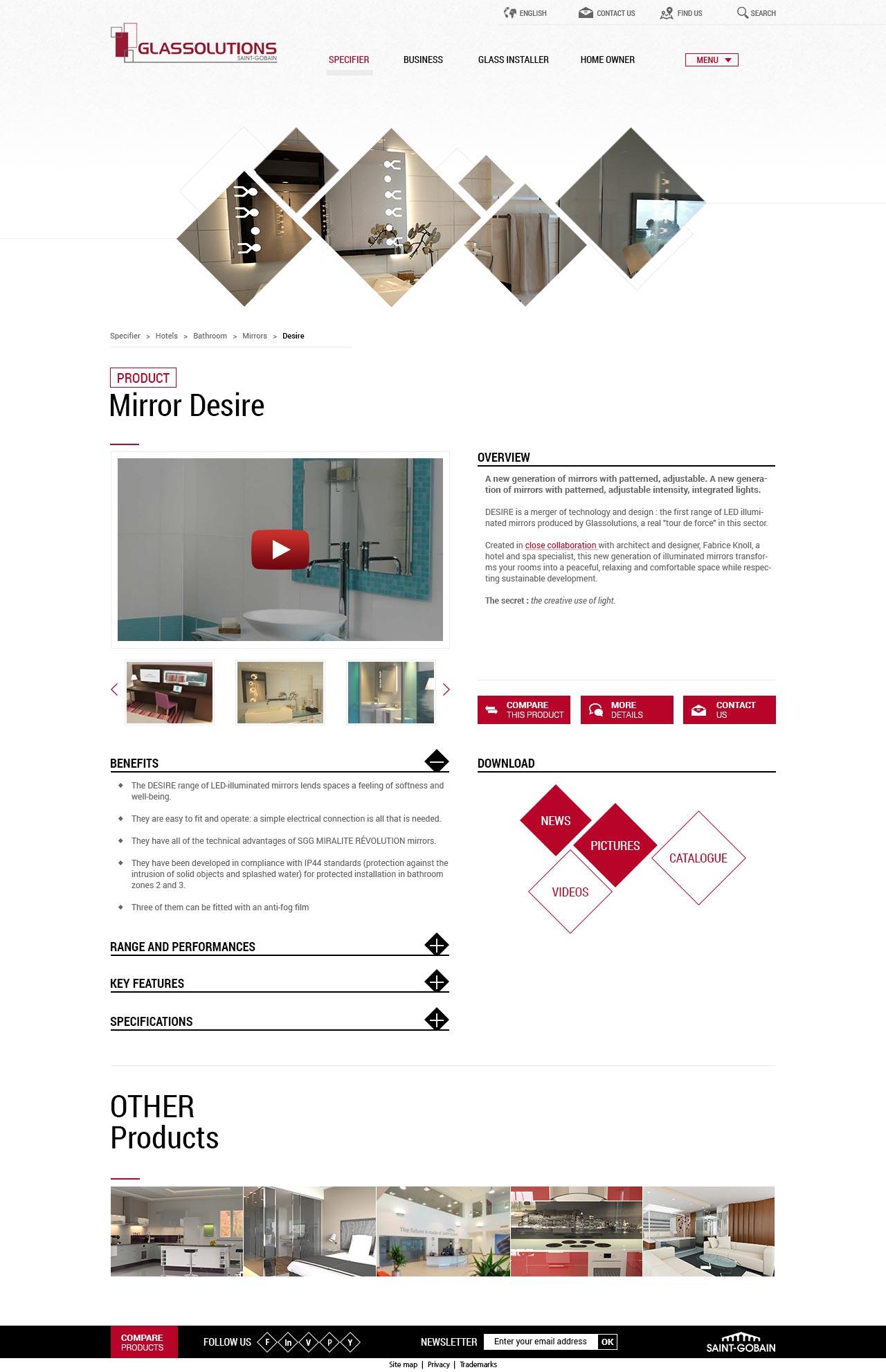 Glassolutions - Direction artistique & UX