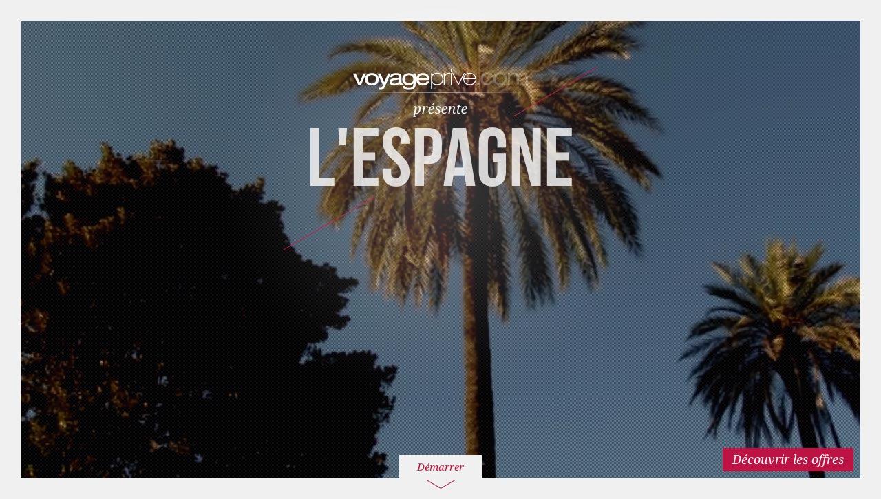 Voyage Privé - Direction artistique web